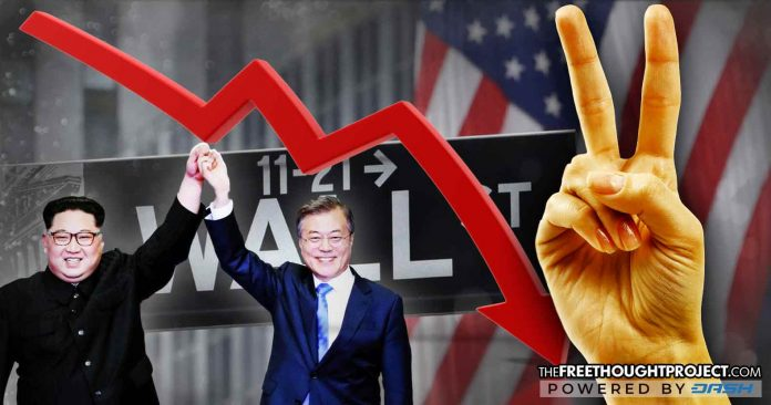 Military Industrial Complex Stocks Sent Crashing as North and South Korea Achieve Peace