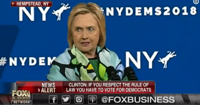 LOL! Hillary Clinton: If You Believe In The Rule of Law, Vote Democrat