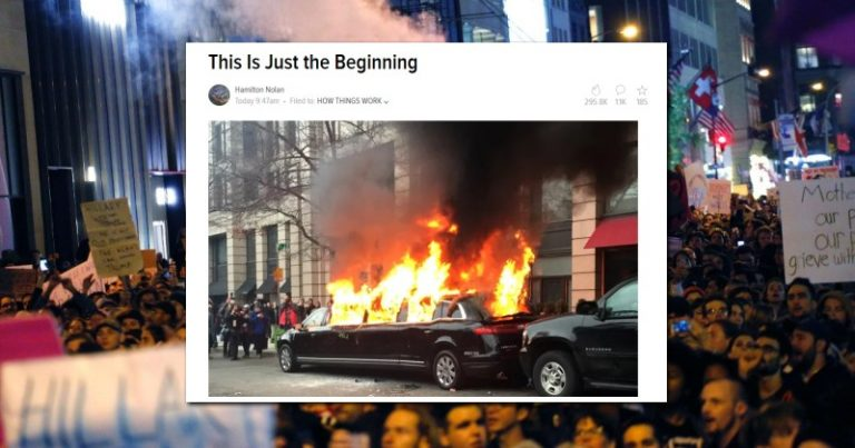 Left-Wing Writer Suggests Anti-Trump Protesters Should Carry Out Domestic Terror Attacks