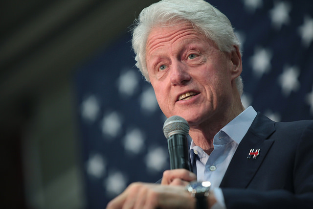 Man confronts Bill Clinton publicly: Why did you fly on Jeffery Epstein's Lolita Express 26 times?