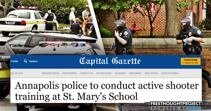 Days Before Shooting, Capital Gazette Reported Police Would Be Conducting Mass Shooting Drills