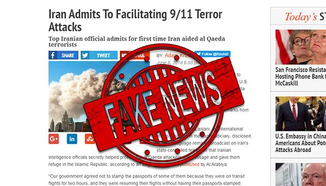 "FAKE NEWS: Iran Did Not ""Admit to Facilitating 9/11 Terror Attacks"""