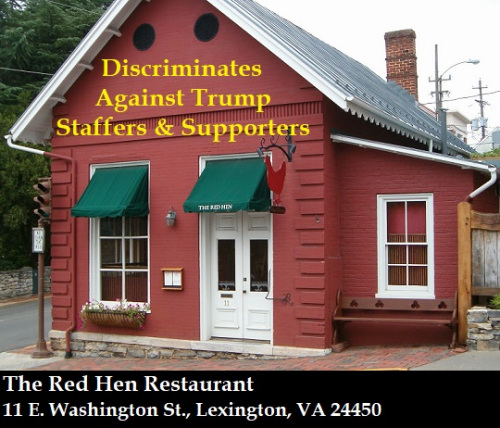 Liberal Tolerance: Red Hen restaurant kicks out White House press secretary Sarah Sanders