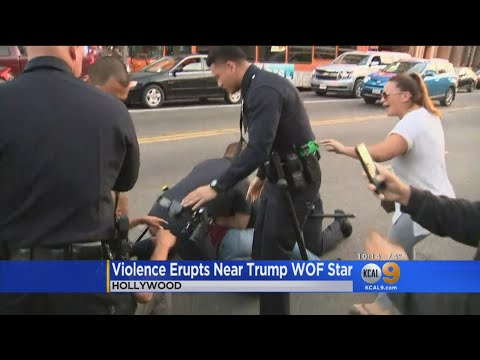Violence Erupts for the 2nd Time in 4 Nights at Trump Hollywood Star