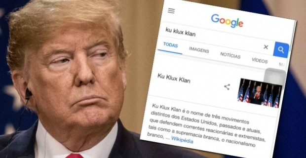 "Rigged: Google Search For ""Ku Klux Klan"" Brings Up Picture of President Trump"
