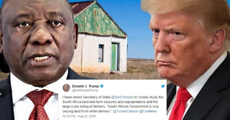 Boom! South Africa Withdraws Expropriation Of White-Owned Farms Bill After Trump Tweet
