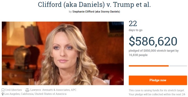 Leftists Who Donated To Stormy Daniels' Legal Fund End Up Having to Pay Trump's Court Fees