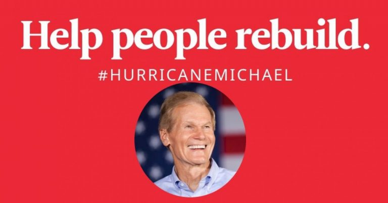 Florida: Democrat Sen. Bill Nelson Directs People to Data Mining Site to Donate for Hurricane Relief Efforts
