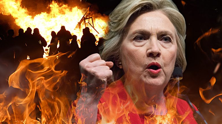 Hillary Clinton commits to mass violence across America if Dems don't win the mid-terms
