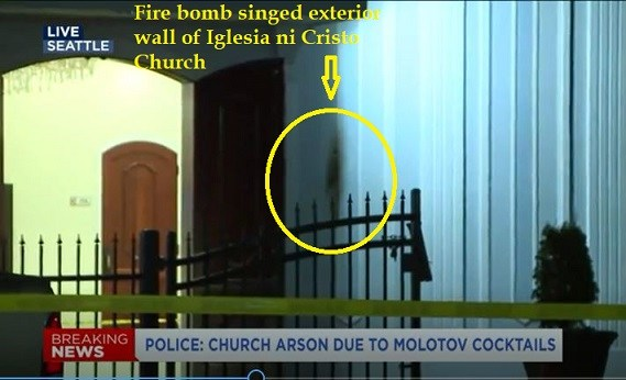 Church firebombing comes to America
