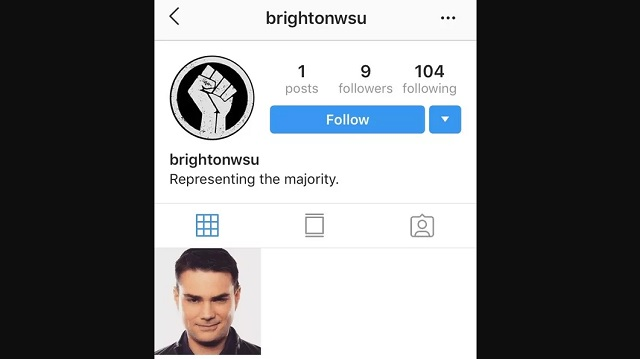 NY High School Calls Cops Over 'White Student Union' Instagram Page With Single Pic Of Ben Shapiro