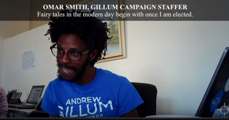 "Andrew Gillum Campaign Staffer: ""Florida is a ****** up Cracker State."""