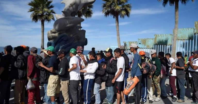 "Migrant ""Horde"" Clashes With Locals in Tijuana"