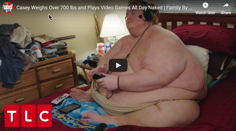 Metaphor For America: 700 Pound Man Plans To Eat & Play Video Games While Naked Until He Dies