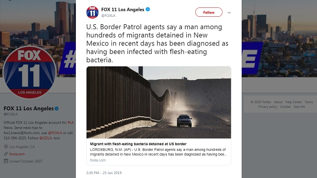 Is It An Emergency Yet?: 'Migrant With Flesh-Eating Bacteria Detained At US Border'