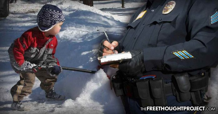 Missouri: Innocent Child Harassed, Threatened by Cops for Shoveling Snow Without a Permit