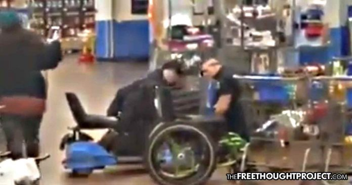 Muskogee, Oklahoma: Disabled Vet Ripped from Wheelchair, Pepper Sprayed for Questioning Walmart ID Policy