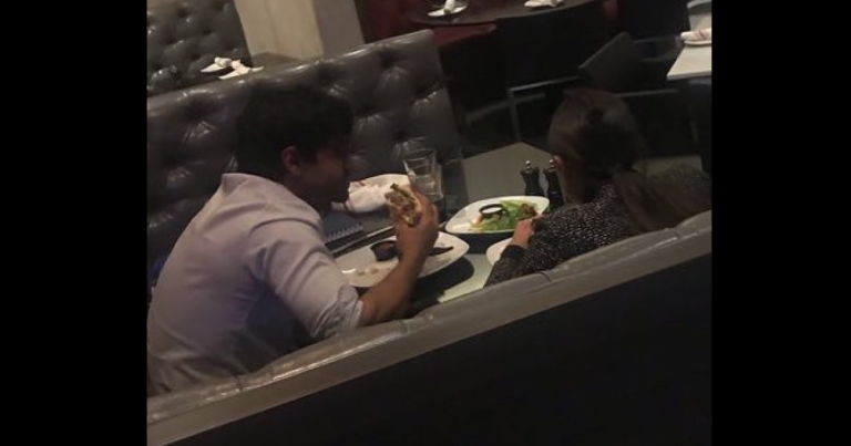 """AOC Busted & Triggered! """"The Boss"""" dines with Chief of Staff while he eats a planet-destroying hamburger"""