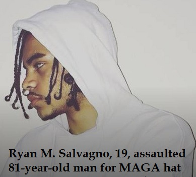 Another MAGA hate crime: 81 y.o. man assaulted by 19 y.o. thug for wearing MAGA hat