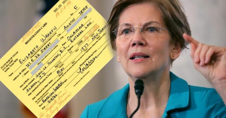 "Washington Post Turns On Elizabeth Warren – Provides 1986 Texas State Bar Card Proving Her A Liar About Using ""Family Tree"" To ""Get Ahead"""