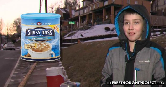11-Year-old Boy Visited by Cops After Neighbors Reported Him For Selling Hot Chocolate