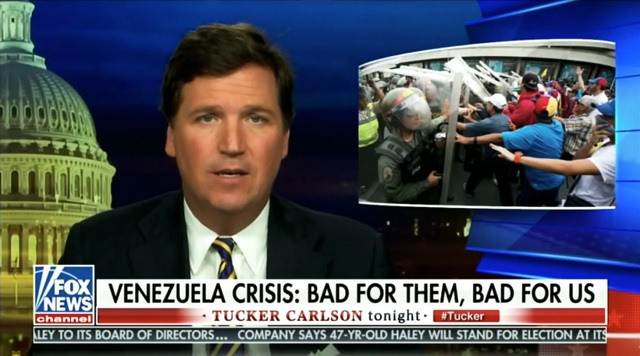 Tucker: How Will Attacking Venezuela Improve America? It Could Create 8 Million Refugees