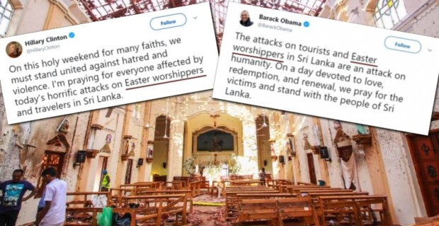 """Easter Worshippers"": Obama & Hillary Refuse to Use the Word ""Christian"" After Sri Lanka Attacks"