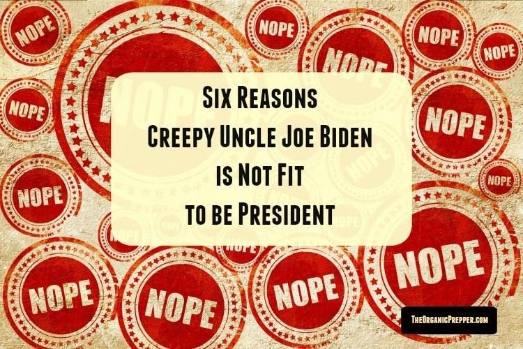 Six Reasons Joe Biden is Not Fit to be President
