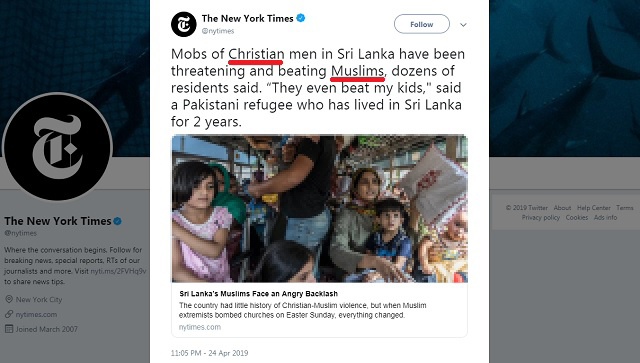The New York Times Couldn't Have Made Their Anti-Christian/Pro-Muslim Agenda More Obvious