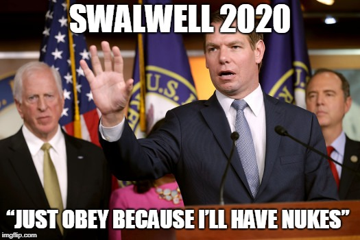 Californians react with derision to presidential aspirant Eric 'we'll nuke you' Swalwell and impeach Trump plan