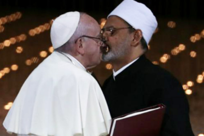 Pope's annual meal for the poor features no pork or wine to avoid offending Muslims