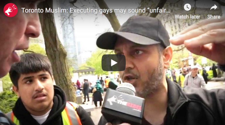 """Toronto Muslim: Executing gays may sound """"unfair,"""" but that's sharia law and """"it's coming to Canada"""""""