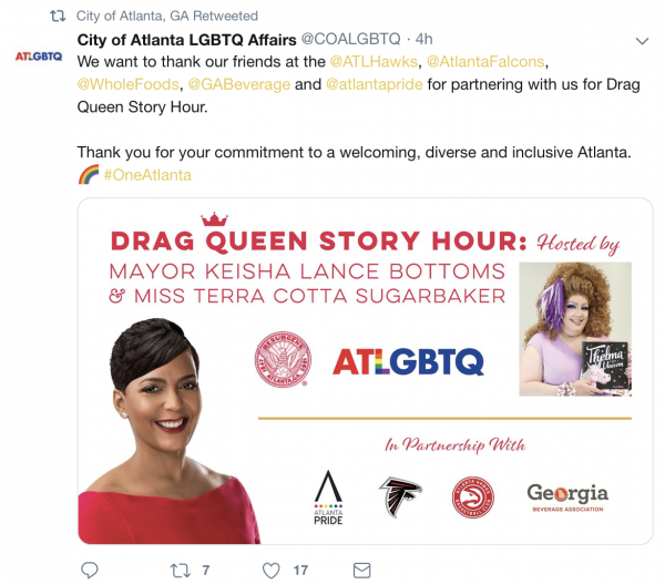 """Library System Rejected """"Drag Queen Story Hour"""" so Atlanta Mayor Held it at CITY HALL"""