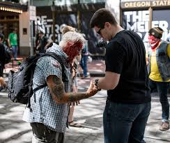 Portland Antifa: Watch Thugs Beat Elderly Man With a Crowbar