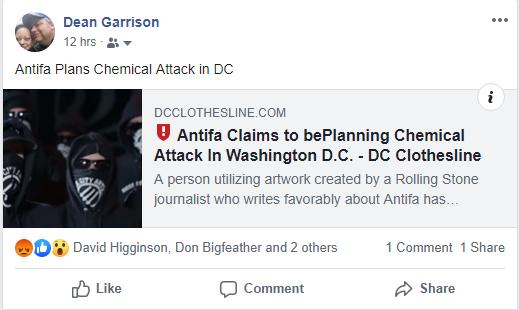 FAKEBOOK Declares Antifa Acid Attack Threat is Fake News