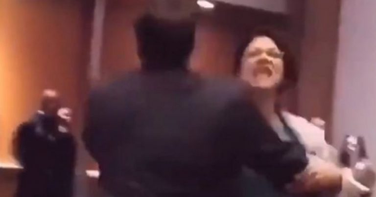 Must See: Rashida Tlaib Screaming as She is Removed from Trump Event