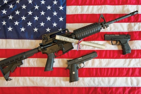 Military online magazine pushes gun control