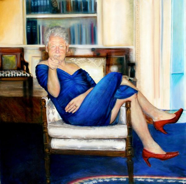 Warning Graphic Content Bill Clinton Painting Found In