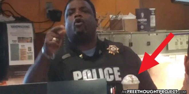Cop Loses It, Assaults Man for Recording Him Steal a McDonald's Smoothie