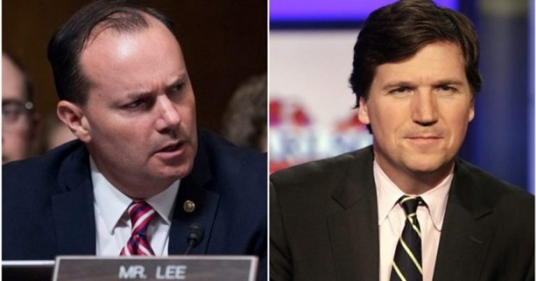 Tucker Carlson Blasts 'Google Shill' Senator Mike Lee