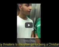 WATCH: Muslim migrant boy threatens to slaughter girl for being a Christian