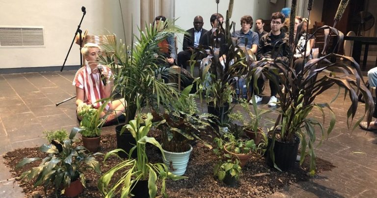 Manhattan: Seminary students confess climate sins to plants