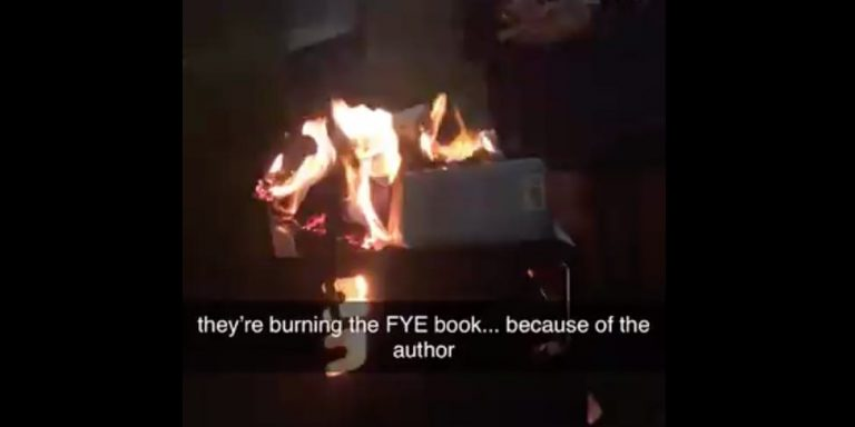 "WHITE Students at Georgia Southern Hold Book Burning to Protest ""White Privilege"" Lecturer"