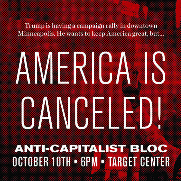 Antifa plans disruption of Trump rally in Minneapolis on Oct 10th, Oath Keepers calls for volunteers to keep attendees safe