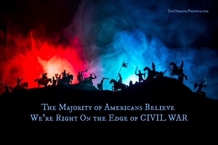 The Majority of Americans Believe We're Right On the Edge of CIVIL WAR