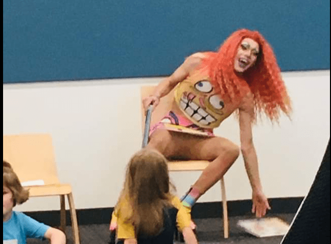 Out of Control Drag Queen Flashes Crotch to Kids at Library Story Hour in Minnesota
