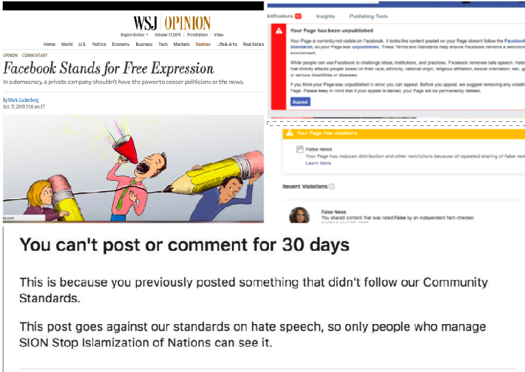 The Day Mark Zuckerberg publishes FREE SPEECH DECLARATION in WSJ, Facebook Deletes One of the Largest Donald Trump Facebook Fan Pages with 3,276,000 Fans