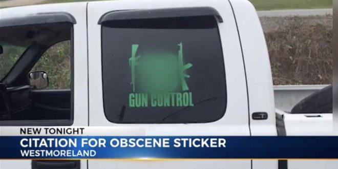 Tennessee Man Prosecuted for Pro-Gun Sticker
