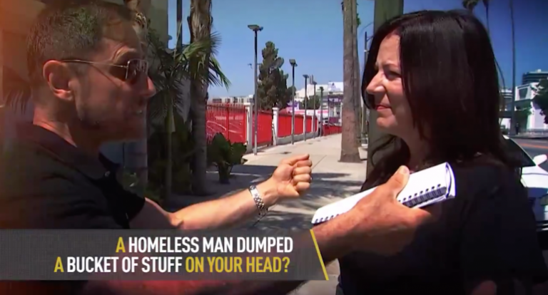 Liberal California: Homeless Man Dumps Bucket of Hot Diarhhea on Woman's Head in Los Angeles.