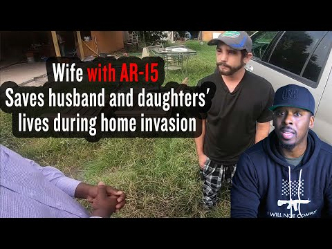 8 Months Pregnant: Wife with AR-15 Saves Husband & Daughter From Armed Home Invaders